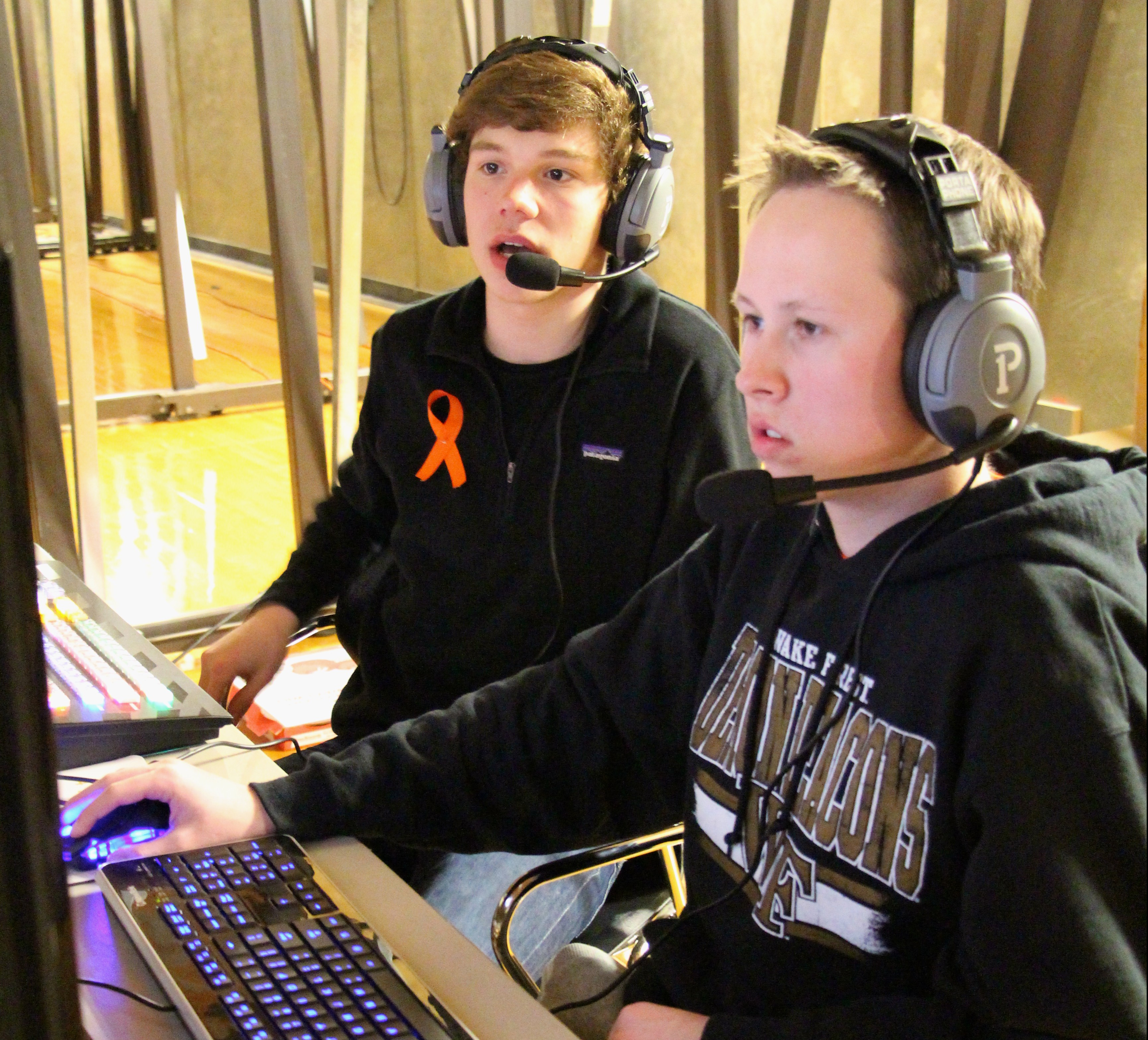 Sports Information students broadcast basketball game